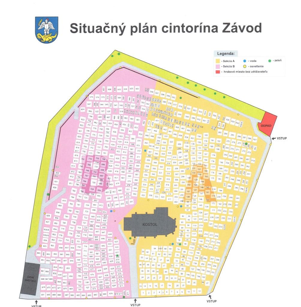 situačný plán cintorín