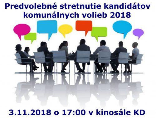 Predvolebné stretnutie kandidátov s občanmi