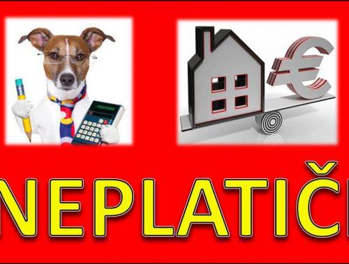 UPOZORNENIE | Domácnosti ktoré nezaplatili daň z nehnuteľnosti a daň za psa
